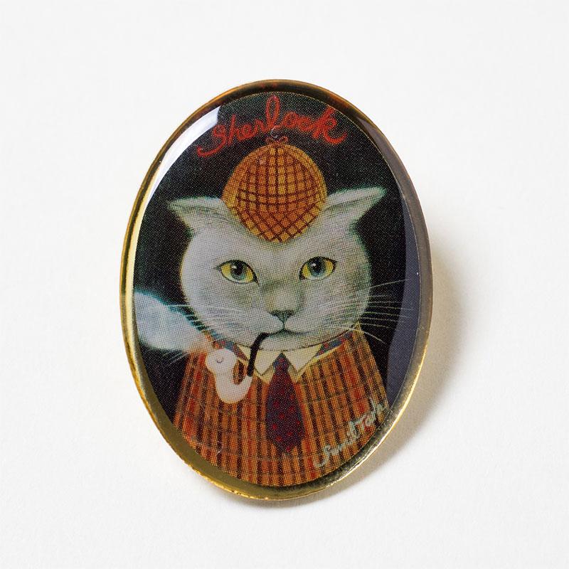 猫シャーロック・ホームズピンズ